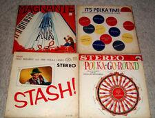 4 polka lp's,Magnante,Polka Chips,Louis Prohut
