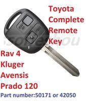 Remote Key for Toyota  RAV4 Prado Kluger Avensis Tarago Transponder 50171-4D67