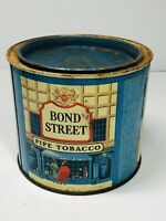 Vintage Early Bond Street Round Blue  Pipe Tobacco Tin
