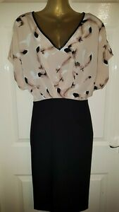 NWT *GORGEOUS* TOGETHER PINK AND BLACK DRESS UK 12