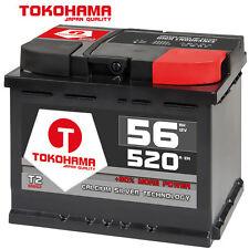 Autobatterie 56Ah 520A/EN 12V ersetzt 44Ah 50Ah 52Ah 53Ah 54Ah 55Ah 60Ah Opel VW