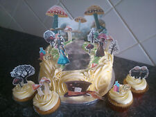 Alice in Wonderland Scene Wafer Edible Cake Decoration Set