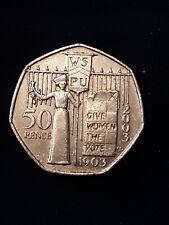 2003 SUFFRAGETTE 50p Give Women the Vote Coin