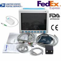 FDA Vital Signs ICU Patient Monitor+ETCO2 Capnography,ECG,SPO2,NIBP,RESP,TEMP,PR