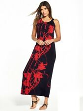 Wallis Placed Floral Maxi Dress Black/Red Size UK 14 rrp £40 DH085 HH 22
