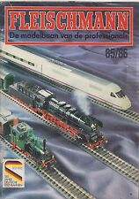 FLEISCHMANN HO N GAUGE MODEL RAILWAYS 1985-86 PRODUCT RANGE CATALOGUE (NL TEXT)
