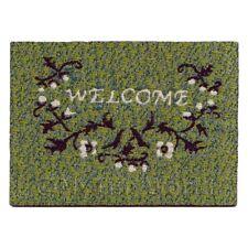 Casa Delle Bambole 58mm Verde Welcome Tappeto Con Disegno Floreale (nw18)