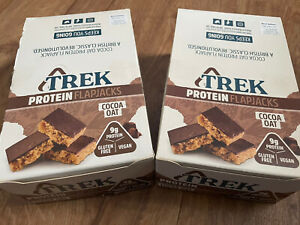 TREK High Protein Flapjack Cocoa Oat, 32 X 50 g - Gluten Free Bars Healthy Snack