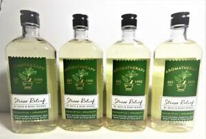 4 Bath Body Works Aromatherapy STRESS RELIEF EUCALYPTUS SPEARMINT Body Wash 10oz