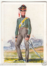 Soldiers Infantry Brigade Prussia Army Napoleon War Uniform IMAGE CARD 30s