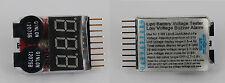 Tester batteria Li-Po 2-8S con schermo LED indicatore volts e allarme DA ITALIA