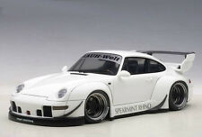 Autoart Porsche RWB 993 1:18 Model Car 78150 White with Gun Grey Wheels