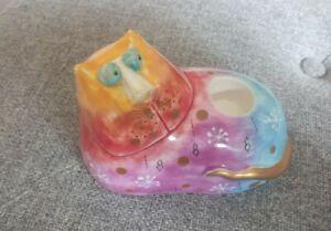 Studio DesignWorks Joy Cats Candle Holder Ceramic Pottery Cat Figure Figurine