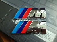 2PCS 3D Chrome ///M Power M Emblem Decal For M3 M5 M6 3 5 6 Rear Badge Sticker
