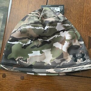 Under Armour Reversible Forest Camo Hunting Beanie Men's 1359840-943 camouflage