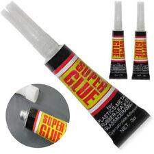 6/12pcs Super Glue Colle Rapide Adhésif Extra-Forte Cyanoacrylate Plastique Cuir