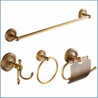 Antique Brass Bathroom Wall Mount Towel Ring Hooks Hanger Toilet Paper Holder