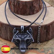 Collar vikingo Vikings  Ragnar Lagertha color plata envejecido Serie unisex