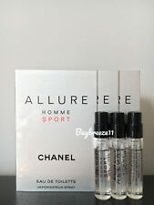 3 x Chanel Allure Homme Sport EDT Spray Cologne Samples 1.5ml / 0.05oz each