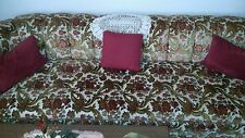 1970s couch original owner red and paisley fair conditions