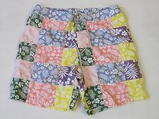 J.Crew Mens Shorts Size 38 Hawaiian Print Patchwork Pastel Colors Board Surf