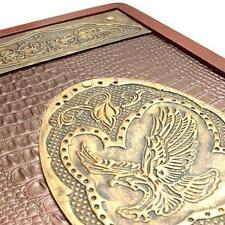 Golden Eagle Luxury Wooden Backgammon Set Leather Pieces Tournament Board Game