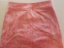 Vineyard Vines Pink Pineapple Paisley Cotton Golf Tennis Sport Skirt Womens 2