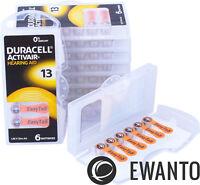 60 x Duracell Activair Hörgerätebatterien 13 Hearing 24606 6111 10 Blister
