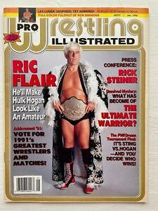 Pro Wrestling Illustrated Magazine January 1992 Ric Flair WWF WCW WWE NWA Sting