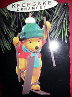 HALLMARK Keepsake 1993 WINNIE THE POOH Skiing CHRISTMAS ORNAMENT Vintage NEW