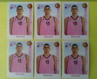 6 x Nikola Jokic #129 ROOKIE sticker Mega Vizura Denver Nuggets ABA LEAGUE 14-15