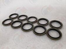 Oil Drain Plug Metal-Rubber Gasket Washer MR81 (Set of 10) for Volvo