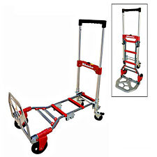 Milwaukee 2 in 1 Convertible Fold Up Truck Folding Dolly Hand Push Cart Trolley