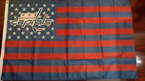 Washington Capitals 3x5 American Flag. US seller. Free shipping within the US!!!