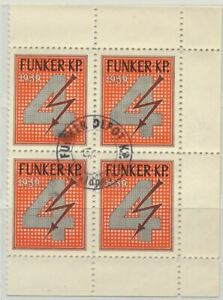 Switzerland Soldier Stamp Funker Radio 1939 MNH Block of 4 Special Cancellation