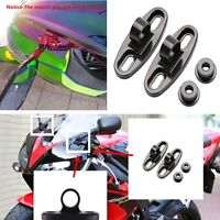 Motorcycle CNC Rearview Mirror w/Fairing Adapters Holder Mount Aluminum Black