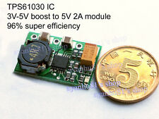 TPS61030 3-5V to 5V 2A Lithium 18650 Battery boost Charge module 96% efficiency