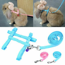 Small Dog Pet Puppy Cat Rabbit Adjustable Harness Lead leash Outdoor Walking