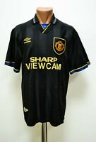 MANCHESTER UNITED 1993/1995 AWAY FOOTBALL SHIRT JERSEY UMBRO SIZE L ADULT