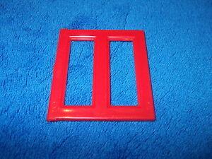 Lego Duplo Fenster Puppenhaus Baustein für Hauswand rot 6468 Fensterscheibe