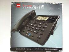 RCA 2-Line Corded Home/Business Phone Telephone Set Speakerphone Caller ID