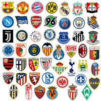 Football Clubs Soccer Team Decal Vinyl Sticker Lot for Skateboard/Luggage/Laptop