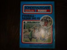 altes DDR FUWO Sonderausgabe Fussball Saison 1982/83 28x20,5cm