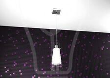 lampadario soffitto sospeso vetro satinato ingresso bagno design moderno led