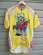 Canari Ed Roth Rat Fink Bike Cycling Jersey Shirt Sedan Delivery Mens Small