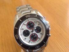 Michael Kors Men Jetmaster Silver Chronograph Stainless Steel  Watch MK8476