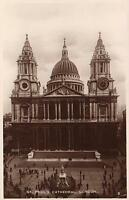 1910's VINTAGE REAL PHOTO POSTCARD - St. PAUL'S CATHEDRAL, LONDON - Excel Series