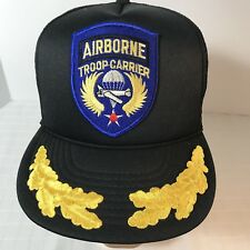 Airborne Troop Carrier Military Mesh Snapback Trucker Hat Ball Cap Patch