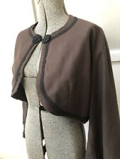 19th Century Brown Womens Short Zouave Style Jacket 1860s Civil War Costume