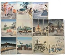Vtg Japanese Woodblock Prints Tokuriki Tomikichiro  12 Months Kyoto Missing Jan